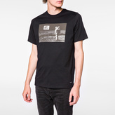 Paul Smith Men's Black 'Man On The Moon' Print Organic-Cotton T-Shirt