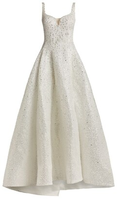 Mikael D Embellished Sweetheart-Neckline Gown