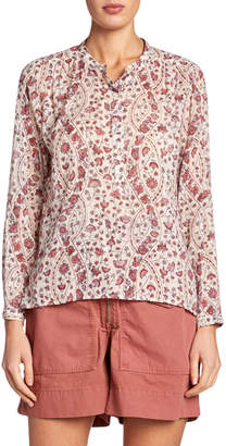 Etoile Isabel Marant Maria Printed High-Neck Blouse