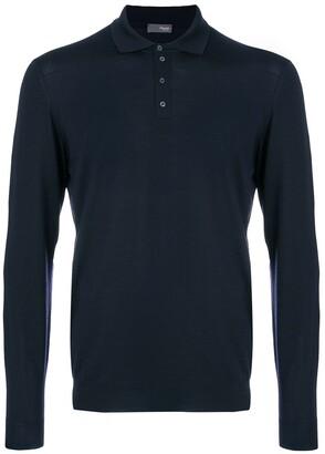 Drumohr Long Sleeve Polo Shirt