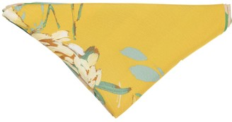 Gianluca Capannolo Yellow Floral Silk Scarf