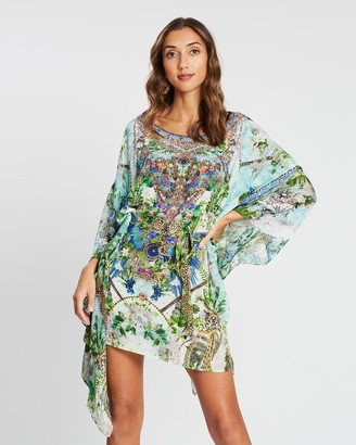Camilla Short Kaftan with Sheer Sleeves