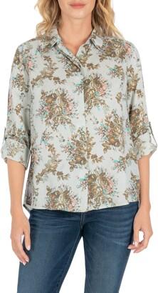 KUT from the Kloth Dakota Floral Print Blouse