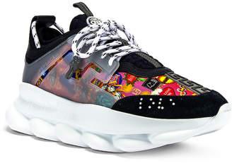 Versace Sneaker in Navy & Multi   FWRD