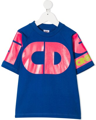 Gcds Kids Raglan-Sleeve Cotton T-Shirt