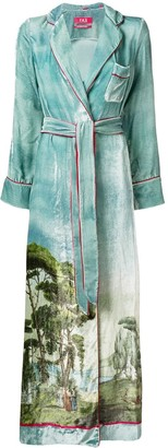 F.R.S For Restless Sleepers Roda printed robe