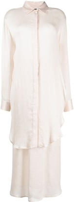Mara Hoffman Metallic-Tone Button-Up Shirt Dress