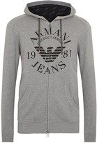 Armani Jeans Grey Hooded Cotton Sweatshirt