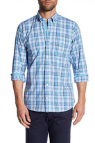 Tailorbyrd Long Sleeve Plaid Print Trim Fit Woven Shirt (Big & Tall Available)
