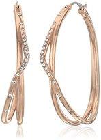Fossil Glitz Twist Hoop Earrings