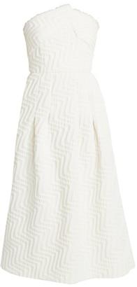 Roland Mouret Saranda Strapless Jacquard Dress
