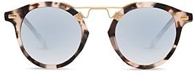 Krewe Unisex St. Louis 24K Round Sunglasses, 46mm