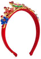 Dolce & Gabbana Mambo motif hair band - kids - Calf Leather/Polyamide/Polyurethane/Brass - One Size