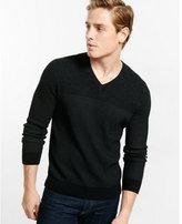 Express color block v-neck sweater