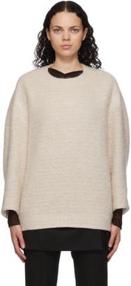 Mame Kurogouchi Off-White Wool Oversized Sweater