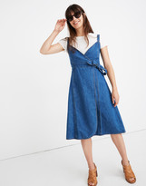 Madewell Petite Denim Wrap Dress