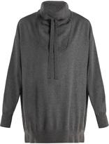 Stella McCartney Oversized funnel-neck wool sweater