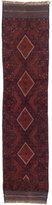 Ecarpetgallery Hand-knotted Tajik Caucasian Blue Red Wool Geometric Runner Rug (1'11 x 8'3)