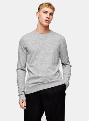 TopmanTopman Premium Grey Jumper With Cashmere