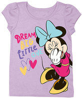 Freeze Lilac Minnie Mouse 'Dream Big' Angel-Sleeve Tee - Toddler