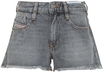 Diesel Frayed Hem Denim Shorts