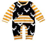 Newborn Baby Long Sleeve Clothes Bodysuit Romper Jumpsuit Outfits - SUPPION Christmas Baby (12-18M)