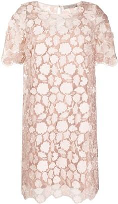 D-Exterior Lace Shift Dress