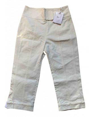 Christian Dior White Cotton Trousers