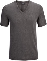Lyocell Jersey V Neck Tee In Coal