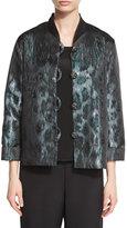 Caroline Rose Animal Ice Jacquard Boxy Jacket, Plus Size
