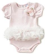 Edgehill Collection Baby Girls Newborn-6 Months Floral-Applique Tutu Bodysuit