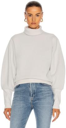 AGOLDE Extended Rib Sweatshirt in Paper Mache | FWRD