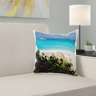 Antigua East Urban Home Antigua, Prickly Island, Beach 16'' Pillow Cover East Urban Home