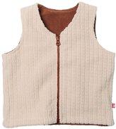 Zutano Cozie Fleece Reversible Vest (Toddler) - Oatmeal-3T