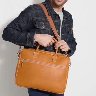 Mark & Graham Baseball Leather Briefcase