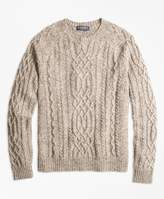 Brooks Brothers Cable Crewneck Sweater