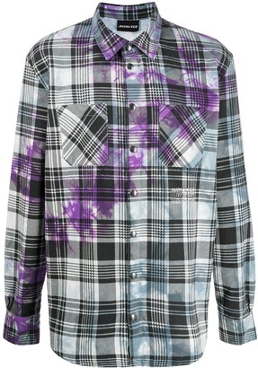 Mauna Kea Plaid Tie-Dye Shirt