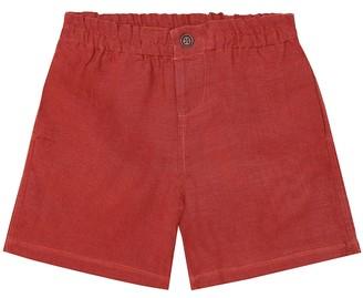 Caramel Barbican linen shorts