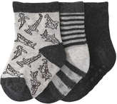 Joe Fresh Baby Boys' 3 Pack Essential Socks, Black (Size 0-12)