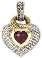 Judith Ripka Tone Tone Garnet & Diamond Accent Heart Pendant