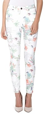 Parker Smith Ava Floral Print Skinny Jeans in Tropics