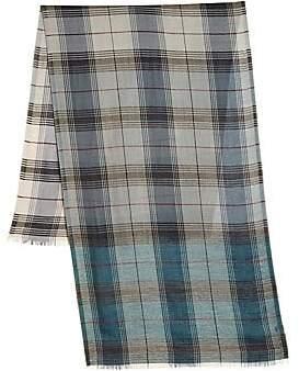 Loro Piana Men's Plaid Cashmere Silk Scarf