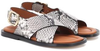 Joseph Snake-effect leather sandals
