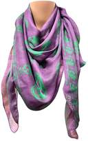 Alexander McQueen Purple Silk Scarves