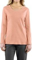 Carhartt Calumet T-Shirt - V-Neck, Long Sleeve (For Women)