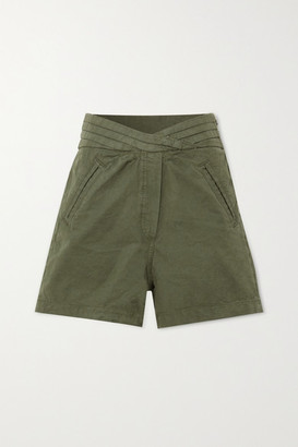 RtA Ellena Cotton Shorts - Army green