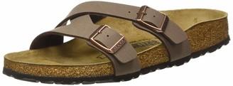 Birkenstock Women's Mules Yao Balance Birko-Flor Nubuck Mocca Sandal 5 UK