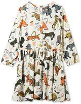 Stella McCartney white fleur circus print dress