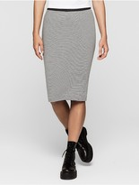 Black And Grey Stripe Skirt - ShopStyle