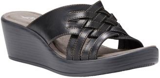 Eastland Woven Wedge Sandals - Giovanna